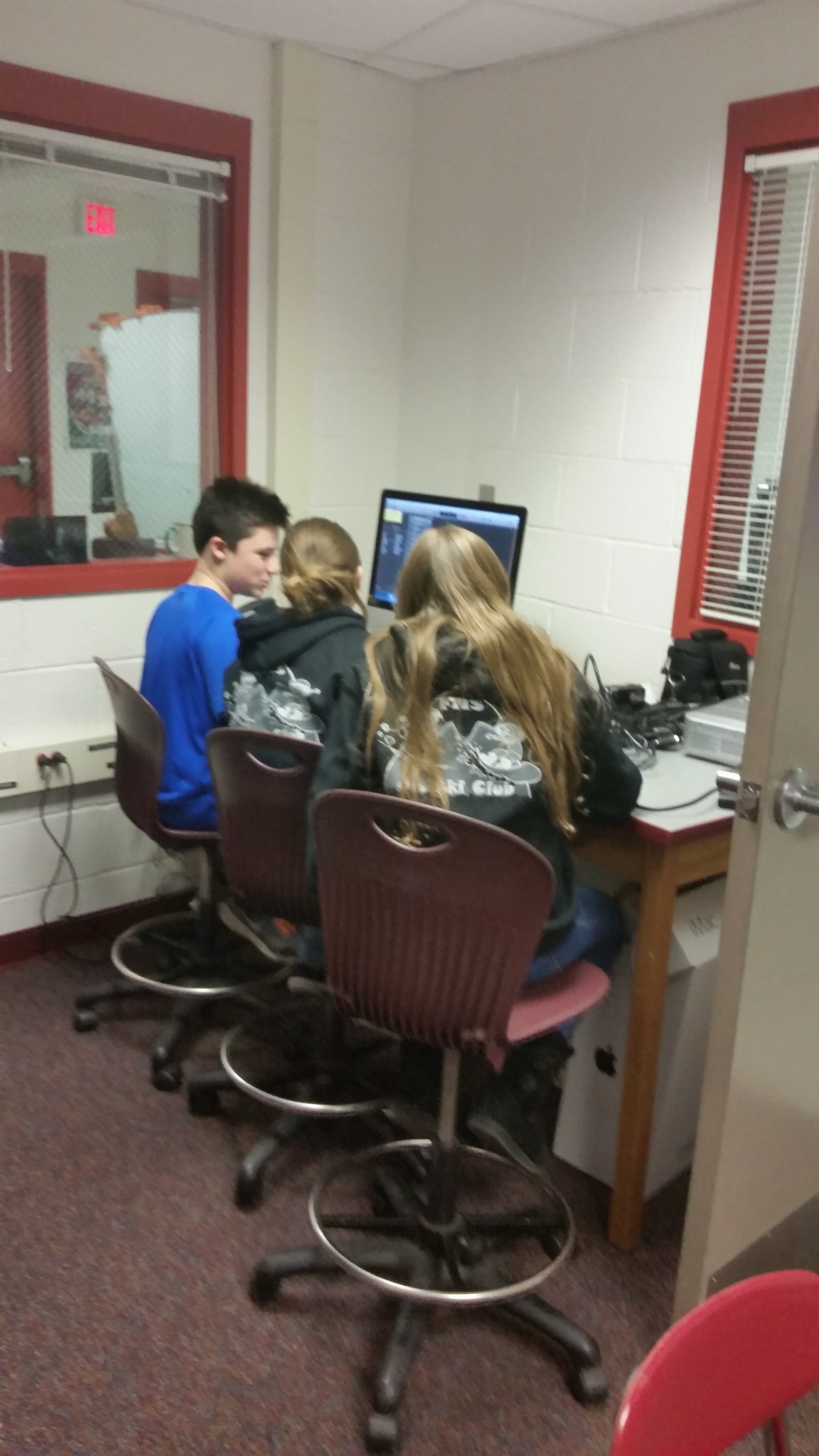 FCAST students working on a project.