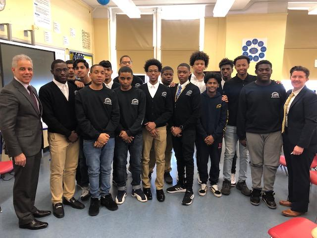 August Martin High School MBK Challenge scholars pose