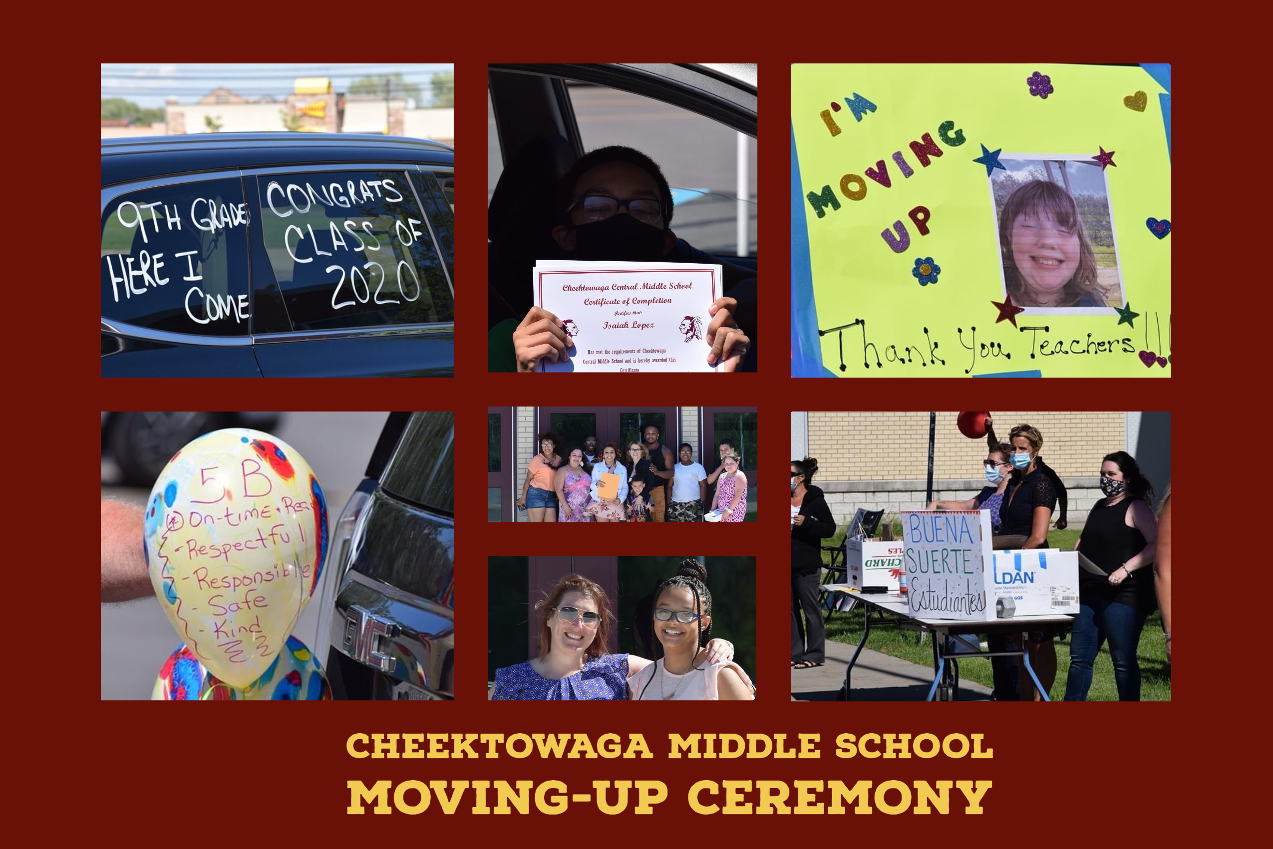 Cheektowaga Middle School moving-up ceremony picture montage