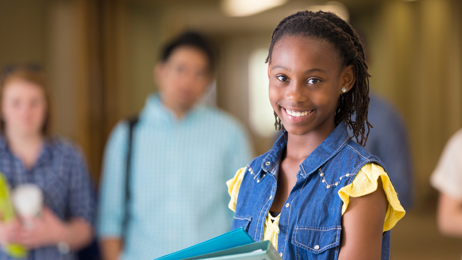 smiling student with backpack