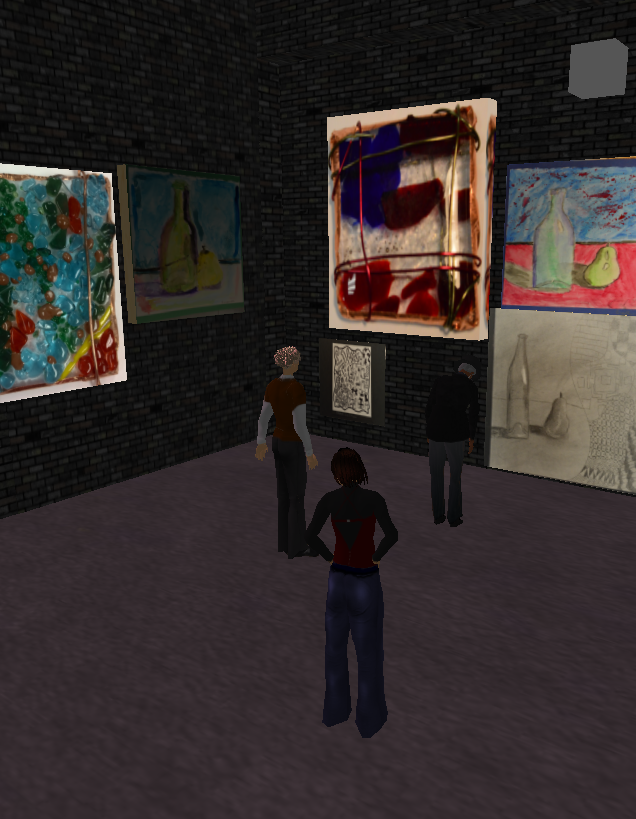 Digital Art Museum Exhibit