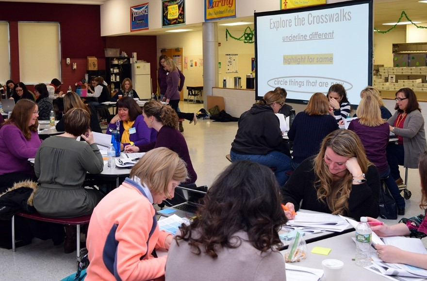 Educators from component schools in the Hamilton-Fulton-Montgomery BOCES participate in regional professional development on standards-based curriculum.