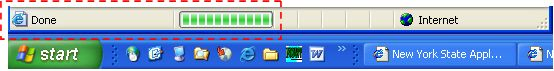 Browser download progress bar
