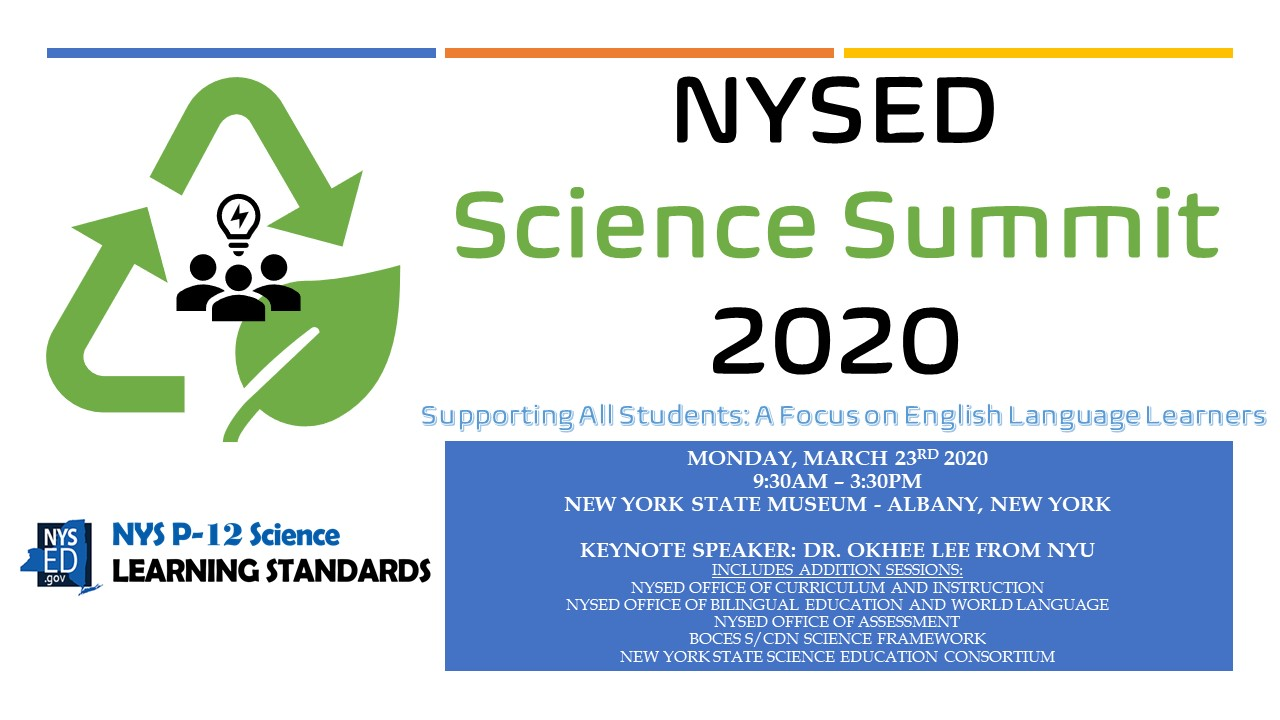Information for the NYSED Science Summit