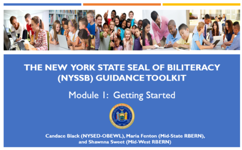 New York State Seal of Biliteracy Guidance Toolkit