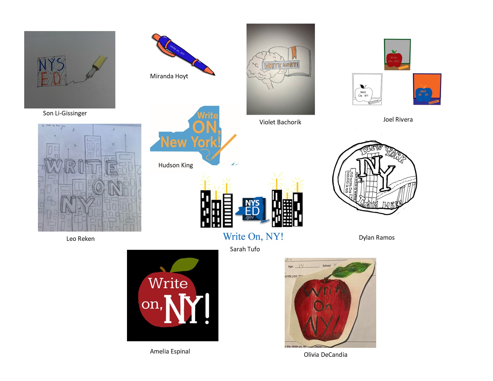 Images of student artwork