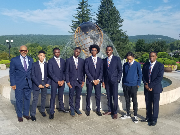 Regent Young with a group of MBK Fellows.