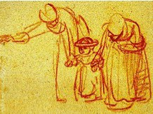 Rembrandt sketch to illustrate scaffolding