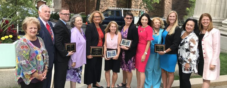 2020 Teacher of the Year and finalists with Regents and Beth, NYSUT EVP