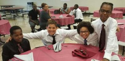 Newark Middle School students at the Rites of Passage event