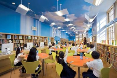 Library at P.S. 189 in Manhattan's Washington Height