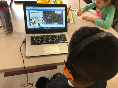 Kindergarten Students Using Epic! Books for Kids