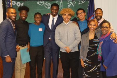 Participants at the Queens North MBK Student Advisory Meeting