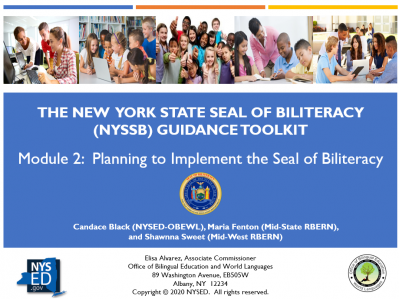 NYSSB Module 12 - Planning to Implement the Seal