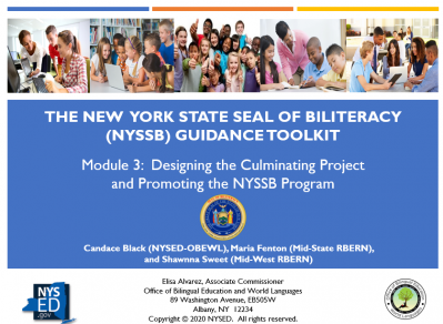 NYSSB Module 3 - Designing the Culminating Project
