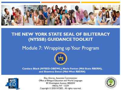 NYSSB Module 7 - Wrapping Up Your Program