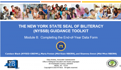 NYSSB Module 8 - Completing the End-of-Year Data Form