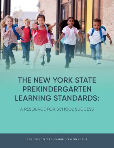 Cover image of the New York State Prekindergarten Learning Standards Resource