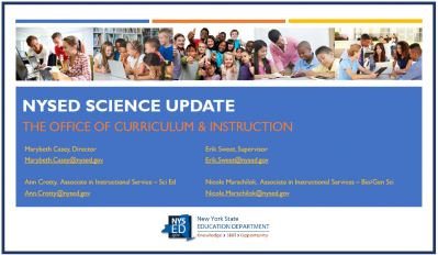 NYSED Curriculum and Instruction Science Update Cover Slide