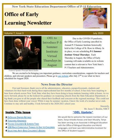 OEL July 2020 Newsletter Page Image