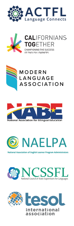 Organizations that developed the 2020 Guidelines for Implementing the Seal of Biliteracy