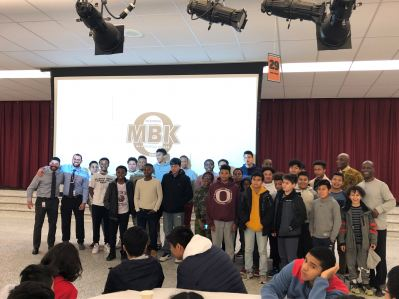 MBK students and staff members from Roosevelt School, AMD, and OHS