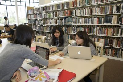 Students in Pasadena City College's Library