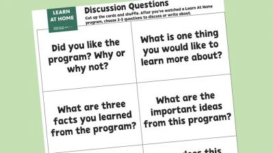 PBS Learn at Home Grades 4-12 Sample Discussion Questions