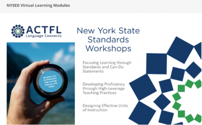 Screen shot of NYSED Virtual Learning Workshops