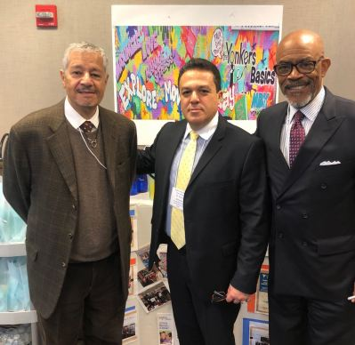 Regent Reyes, Yonkers Superintendent Quezada, and Regent Young