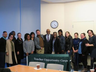 Regent Young vists with educators and students at SUNY Old Westbury