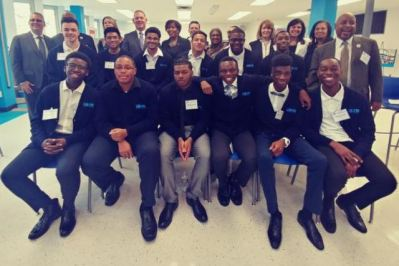 Regent Cea and Staten Island Superintendent Anthony Lodico with MBK students in Staten Island