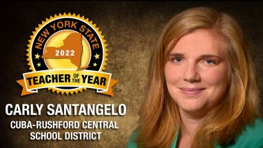 Image of Carly Santangelo, the 2022 New York State Teacher of the Year