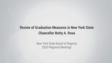 Regional Meetings to Review Graduation Measures in NYS