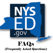 NYSED.gov logo with Frequently Asked Questions (FAQs) written below